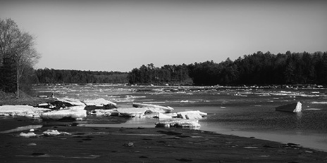 Winter River BW