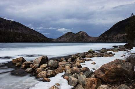 Winter on Jordon Pond  - NHP125